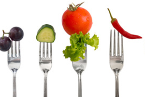 Fruit and Vegetables on Forks